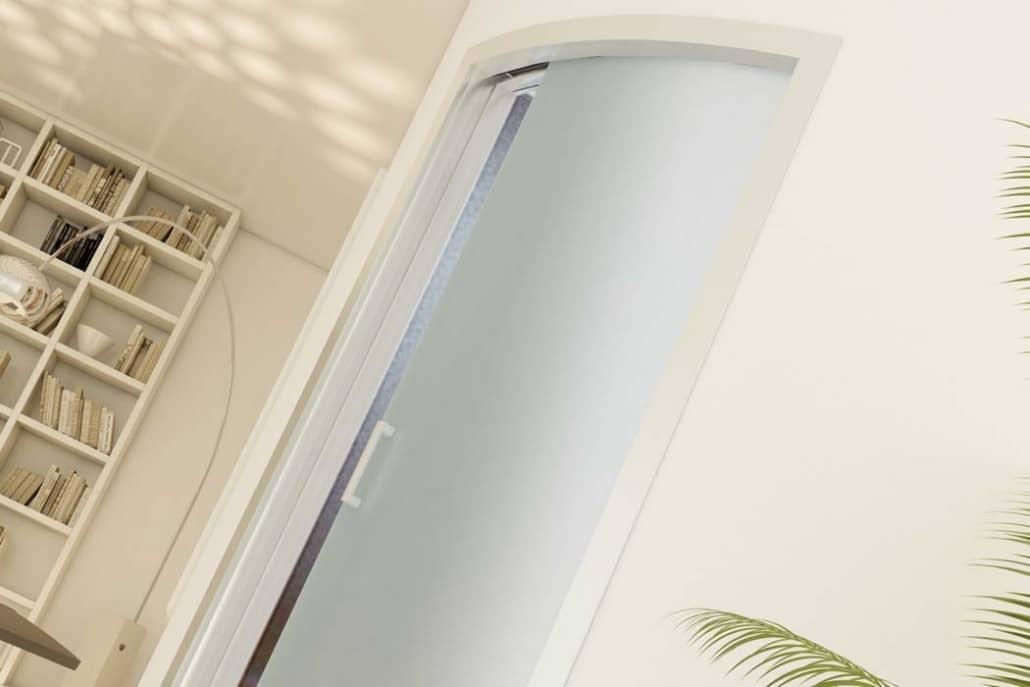 Centro porte infissi alcamotema solovetro fast porta - Porta scorrevole curva ...